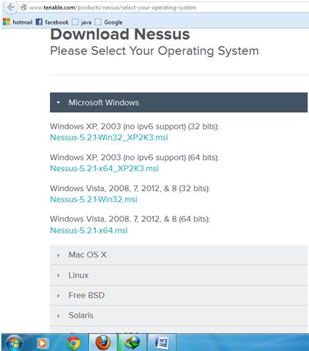 nessus gratuit pour windows